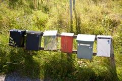 Почтовые ящики в южной Швеции Стоковое Изображение