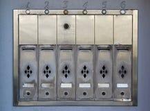 почтовые ящики квартиры Стоковое Фото