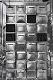 Почтовые ящики нержавеющей стали стоковые изображения