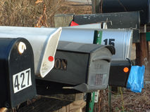 почтовые ящики сельские Стоковая Фотография