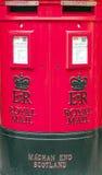Почтовый красный почтовый ящик Стоковая Фотография