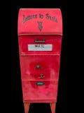 Почтовый ящик Дед Мороз для писем к Северному полюсу Стоковое Фото