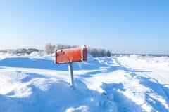 Почтовый ящик зимы Стоковые Фотографии RF