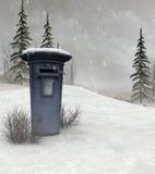 почтовый ящик ландшафта зимний Стоковая Фотография
