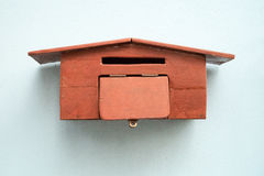 Почтовый ящик древесины ремесленничества Стоковое фото RF