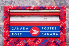 Почтовый ящик столба Канады Стоковые Изображения