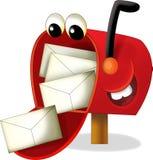 Почтовый ящик шаржа - иллюстрация для детей Стоковые Изображения RF