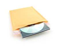 почтоотправитель компактного диска пузыря Стоковые Изображения RF