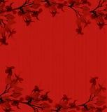 пошущенный над красный цвет печати handmade бумаги цветка Стоковые Фото