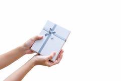 Пошлите изолят подарочной коробки стоковое фото rf