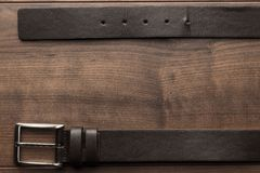 Пояс Брайна кожаный для людей Стоковая Фотография RF