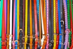 Пояс красочной моды кожаный Стоковое фото RF