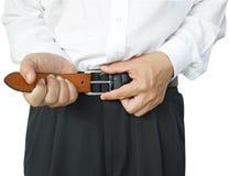 Пояс человека нося Стоковое Фото