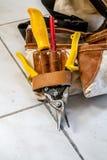 Пояс электрика с инструментами конструкции Стоковое фото RF
