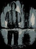 подавленное положение человека Стоковая Фотография