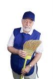 подавленный старший работник Стоковые Фото