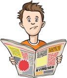 подавленная газета ванты иллюстрация штока