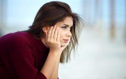подавленная унылая женщина Стоковая Фотография RF
