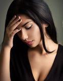 подавленные унылые детеныши женщины Стоковое Изображение