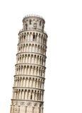 Полагаясь башня Пизы, Италии изолировано Стоковое Фото