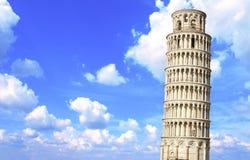 Полагаясь башня Пизы, Италии Стоковое фото RF