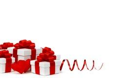 Подарки и сердца Стоковая Фотография