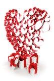 Подарки и сердца Стоковое Изображение RF