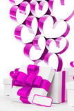 Подарки и сердца Стоковые Фотографии RF