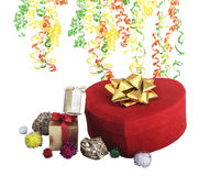 Подарки и сердце рождества Стоковое фото RF