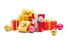 Подарки и baubles рождества Стоковая Фотография RF
