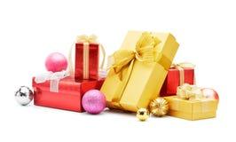 Подарки и baubles рождества Стоковые Фото