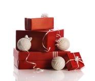 Подарки на рождество в коробках Стоковое Изображение RF