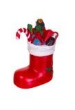 подарки рождества ботинка красные Стоковое Изображение