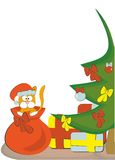 Подарки рождества и кот Стоковые Фотографии RF
