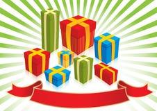 Подарки рождества - иллюстрация Стоковое Изображение RF