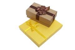 подарки элементов конструкции коробок Стоковая Фотография