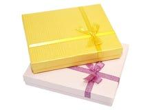 подарки элементов конструкции коробок Стоковое фото RF