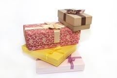 подарки элементов конструкции коробок Стоковые Изображения
