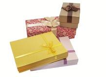 подарки элементов конструкции коробок Стоковая Фотография RF