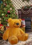 Подарки для рождества под елью Стоковые Фото