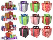 Подарки 3D рождества установили 2 Стоковое Изображение RF
