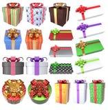 Подарки 3D рождества установили 3 Стоковая Фотография RF