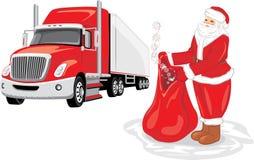 подарки santa claus мешка Поставка рождества бесплатная иллюстрация