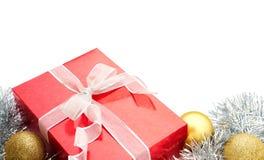 Подарок, безделушки и украшение рождества Стоковое Изображение