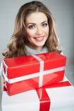 Подарок владением женщины Стоковое Изображение