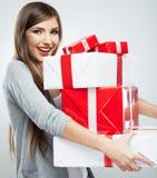 Подарок владением женщины Стоковое фото RF