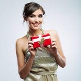Подарок владением женщины Стоковая Фотография RF