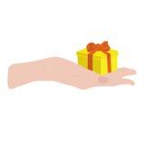 Подарок в руке Стоковые Фото