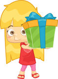 Подарок девушки Иллюстрация штока