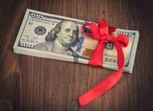 Подарок денег Стоковое Фото